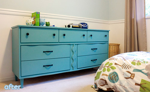See this bright dresser makeover at betterafter.net