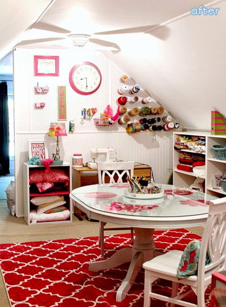 See this bright and organized craft room at betterafter.net