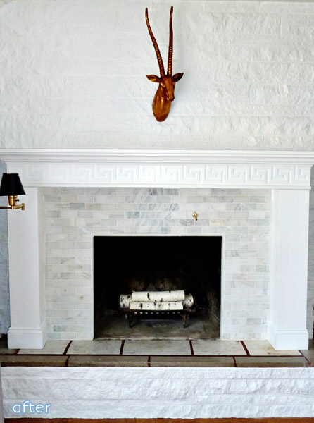 Three different yet beautifully done fireplace makeovers at betterafter.net