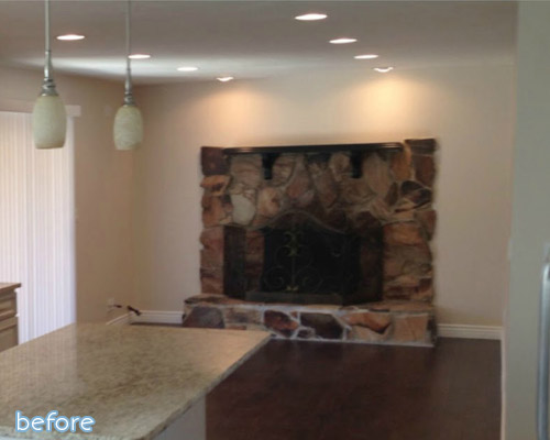 If you like dramatic walls, make sure to check out this fireplace wall makeover at betterafter.net