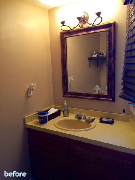 See this light and beautiful powder room makeover at betterafter.net