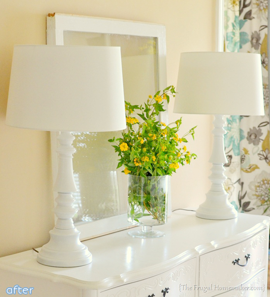 What a change white paint can make! See a white lamp makeover at betterafter.net