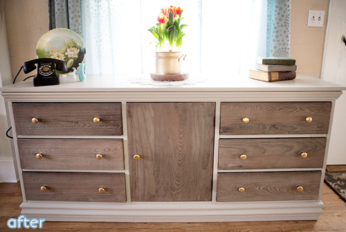 70s to rustic chic dresser makeover |betterafter.net