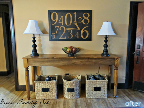 You won't want to miss this beautiful entry way makeover! And there's a surprise table makeover too at betterafter.net