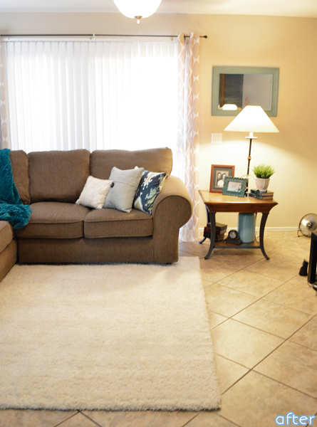 homegoods living room makeover after2