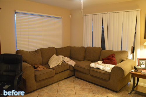 homegoods living room makeover before