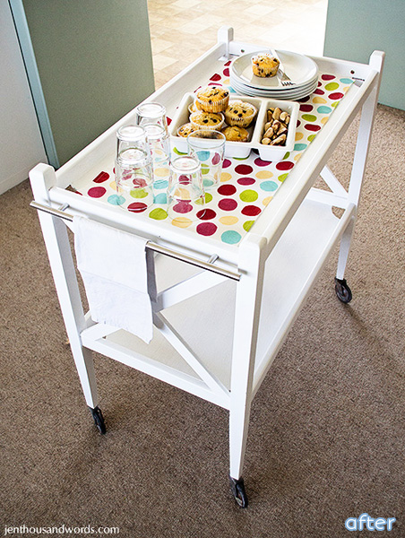 Adorable tea trolley makeover | betterafter.net