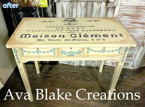 yellow_table_stenciltop_makeover