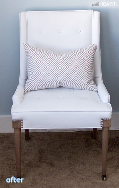 white painted vinyl chair makeover after | betterafter.net