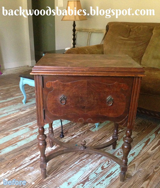 sewing table makeover with stain | betterafter.net