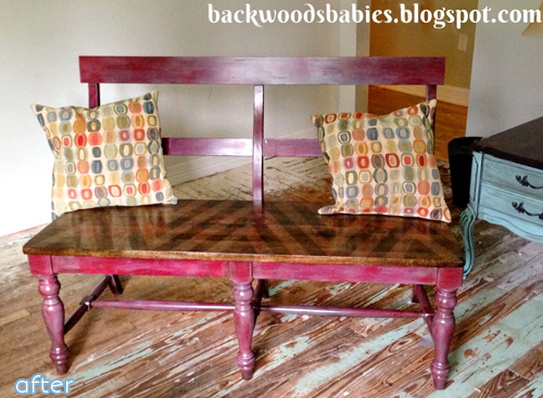 bench makeover with stain | betterafter.net