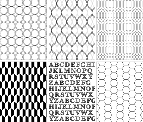 black and white geometric design graphics