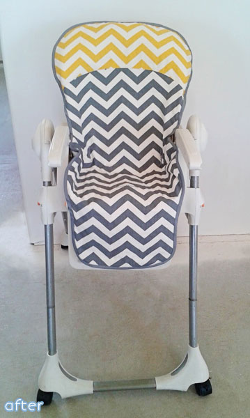 chevron_highchair_makeover