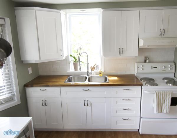 white kitchen wood countertops | betterafter.net