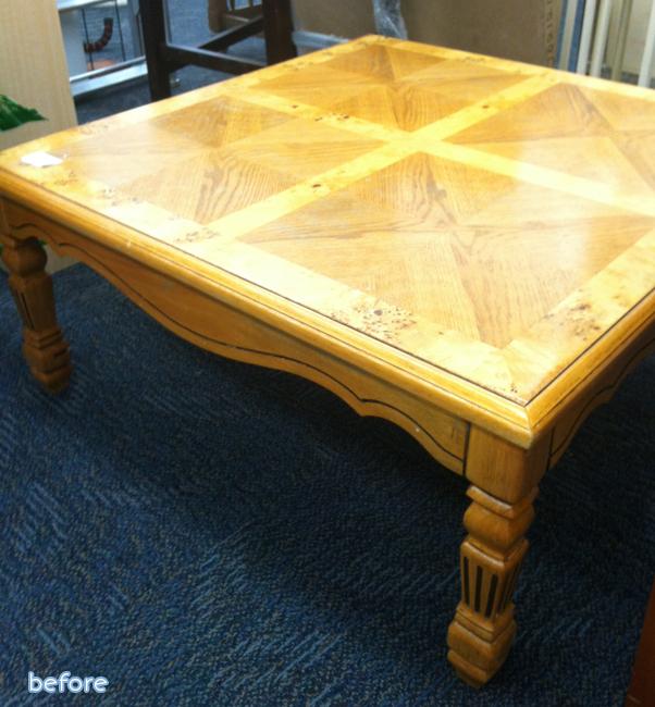 oak square table before