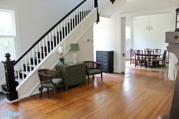 white, wood, foyer, makeover | betterafter.net