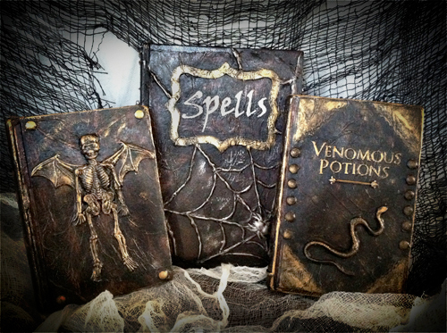 Handcrafted spell books