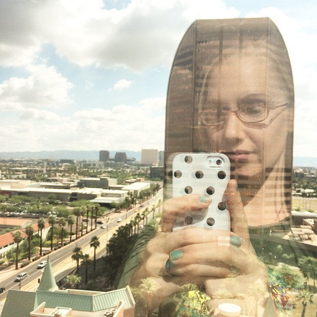 Eleven stories above Phoenix, waiting to be done with glasses and contacts forever! #lasik #nervcited ??✨
