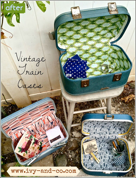 Vintage - Train Case- Makeovers |betterafter.net