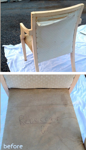 antique - scalloped - chair before