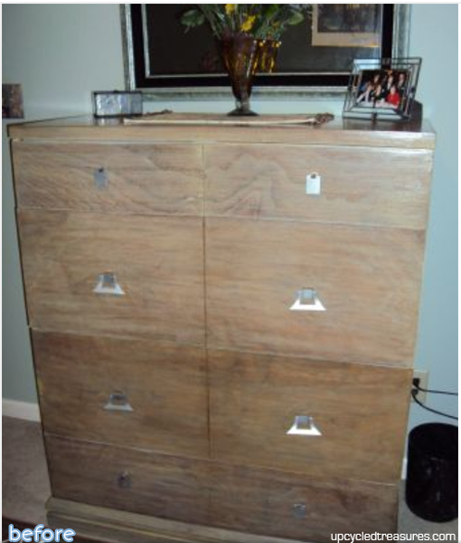 faded brown dresser - before