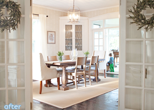 farmhouse dining room makeover after