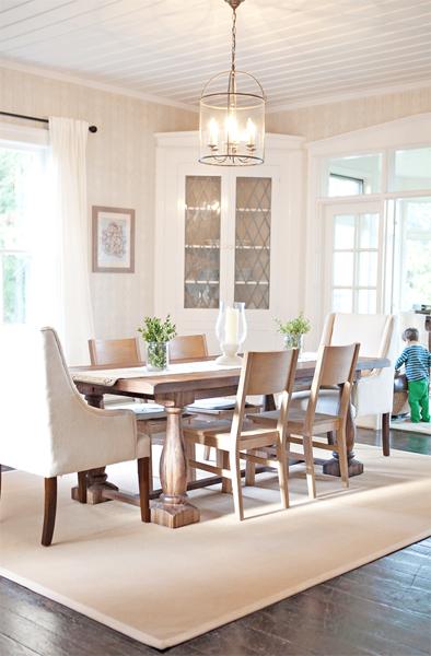 farmhouse dining room makeover floors