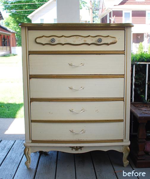 beige dresser before