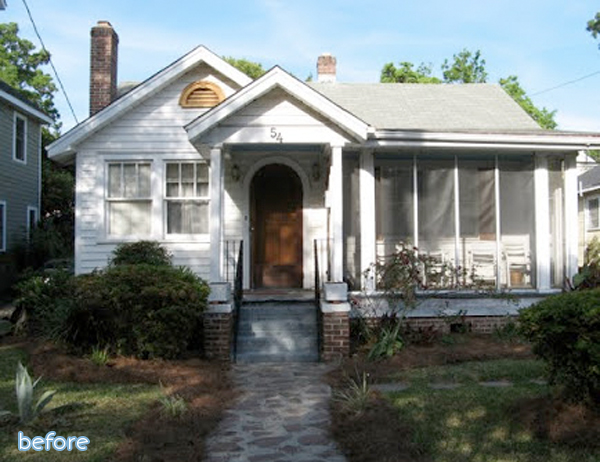 green cottage exterior makeover before