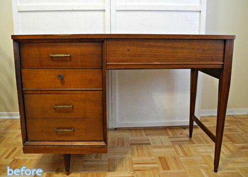 mcm brown desk before