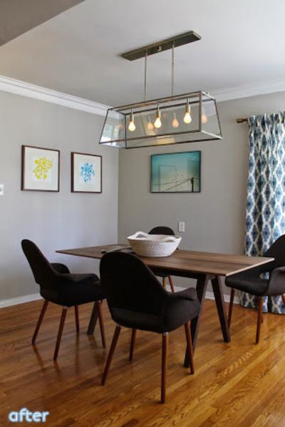 modern dining room - sleek- makeover |betterafter.net