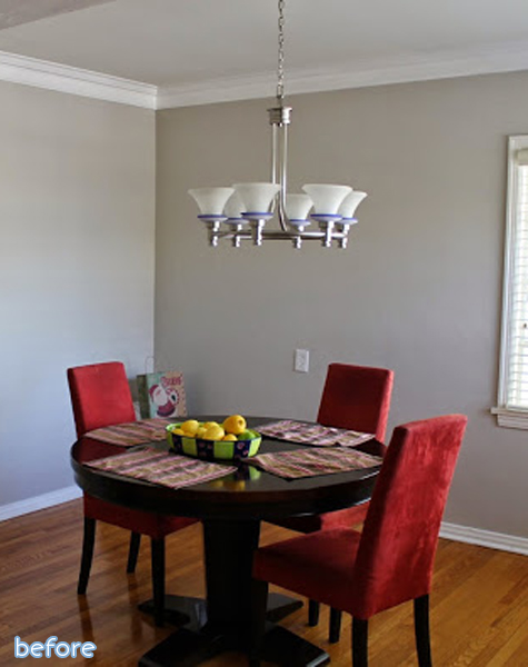 plain dining room before