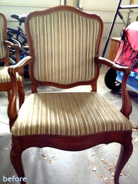 striped chair before
