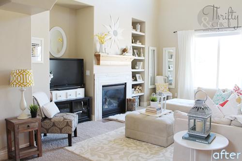 White - Bright - Living Room - Makeover  betterafter.net