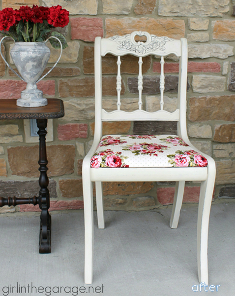 white - floral fabric chair superpost | betterafter.net