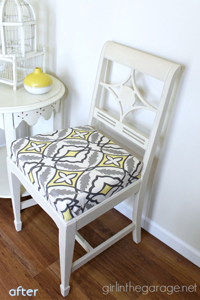 white - yellow gray fabric - chair superpost | betterafter.net