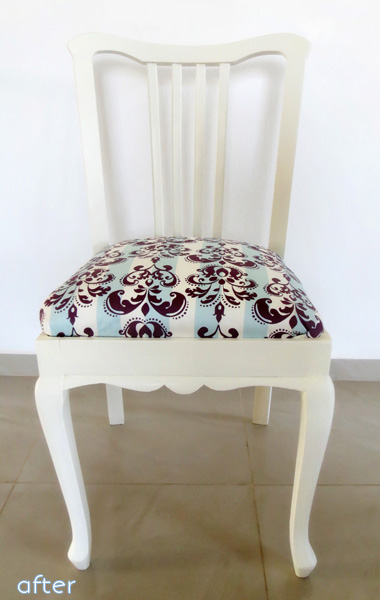 white - purple/ blue fabric - chair superpost | betterafter.net