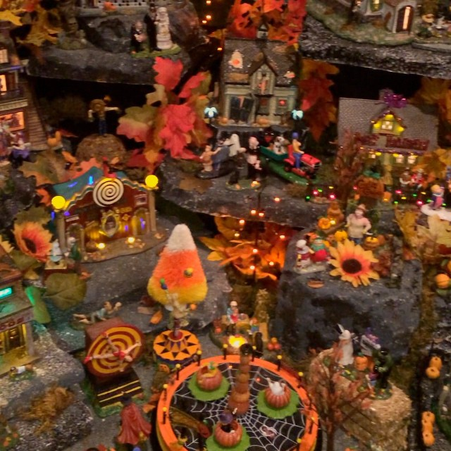 The world's most epic Halloween village!!! This is only about 80% of it. I could have stood there watching it for hours. From my crazy-in-a-good-way friend @mydisneylove123 ???