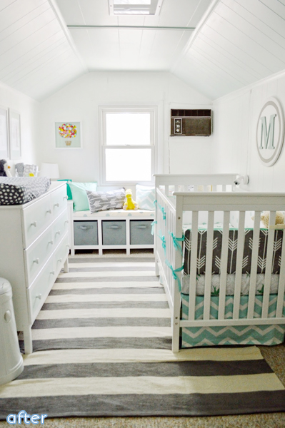 baby nursery makeover white paneling