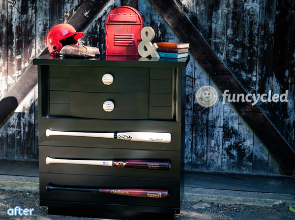 baseball themed dresser makeover | betterafter.net