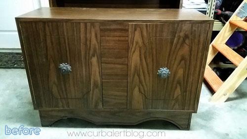 dark brown cabinet before