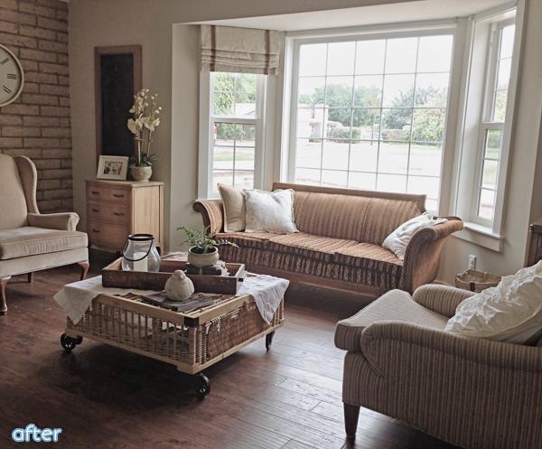Farmhouse - Living Room - Makeover | betterafter.net