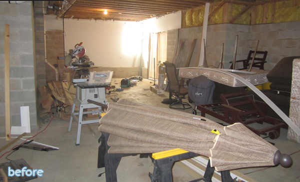 brick basement before