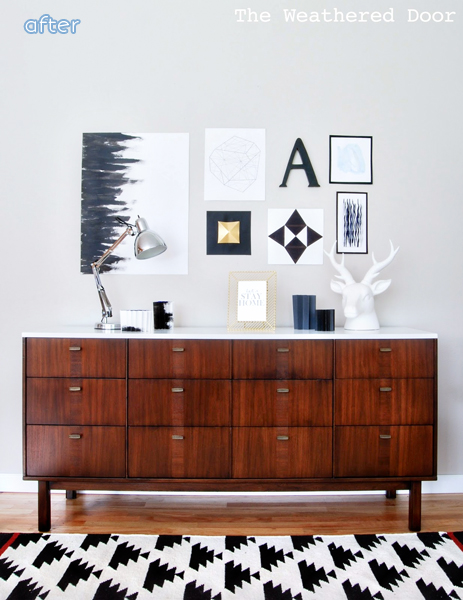 MCM - White Top - Credenza - Makeover |betterafter.net
