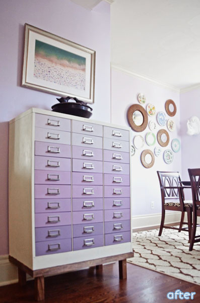 Purple - Ombre - File Cabinet - Makeover | betterafter.net
