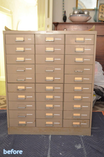 brown file cabinet before