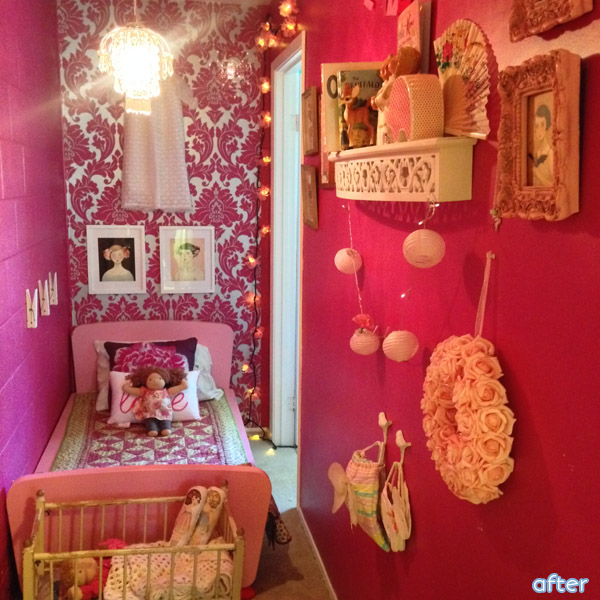 Pink - Closet turned Bedroom - Makeover | betterafter.net