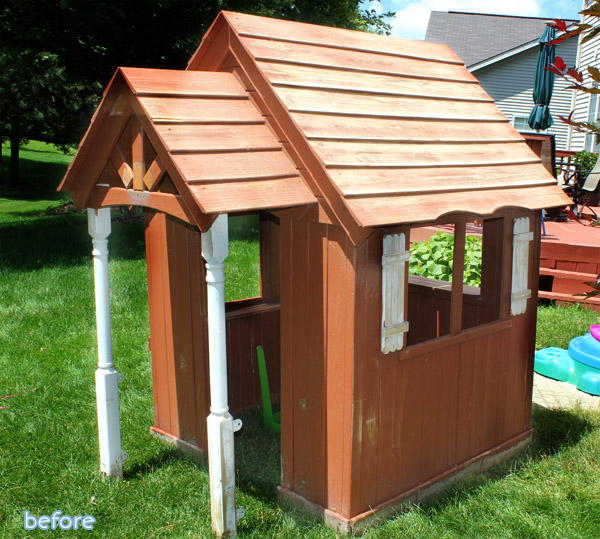 pink playhouse before