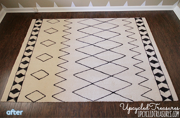 sharpie makeover rug | betterafter.net