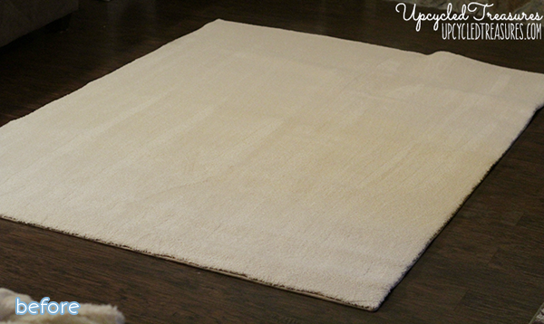 plain white rug sharpie makeover | betterafter.net